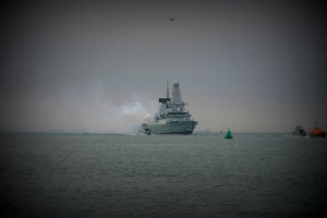 HMS Diamond - Jubilee Salute