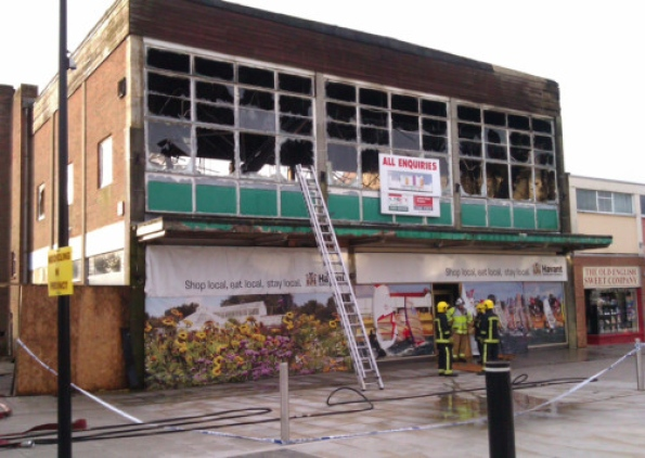 Curzon Rooms fire, Waterlooville. Picture Malcolm Wells