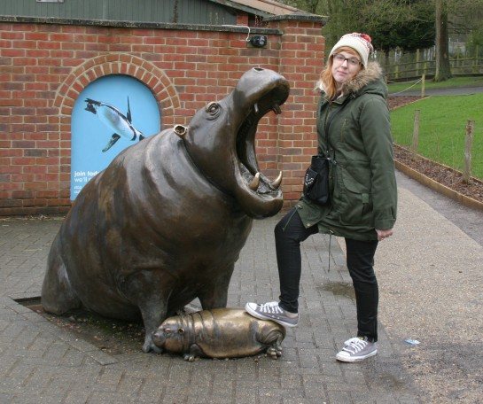 Caitlin tries out the new Pedal Bin - Marwell