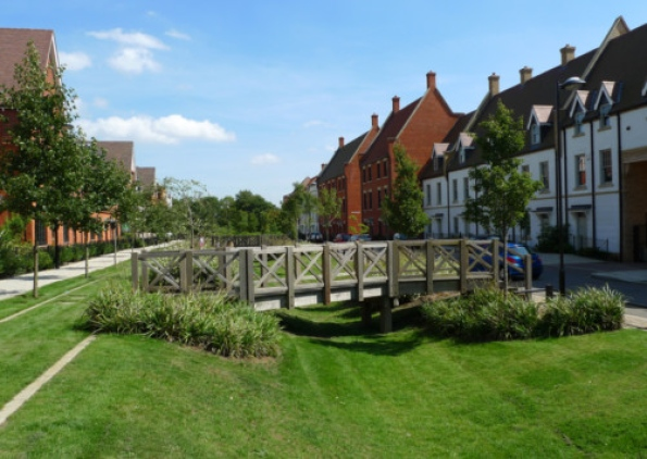 Welborne - An artists impression of the new town to be built north of Fareham