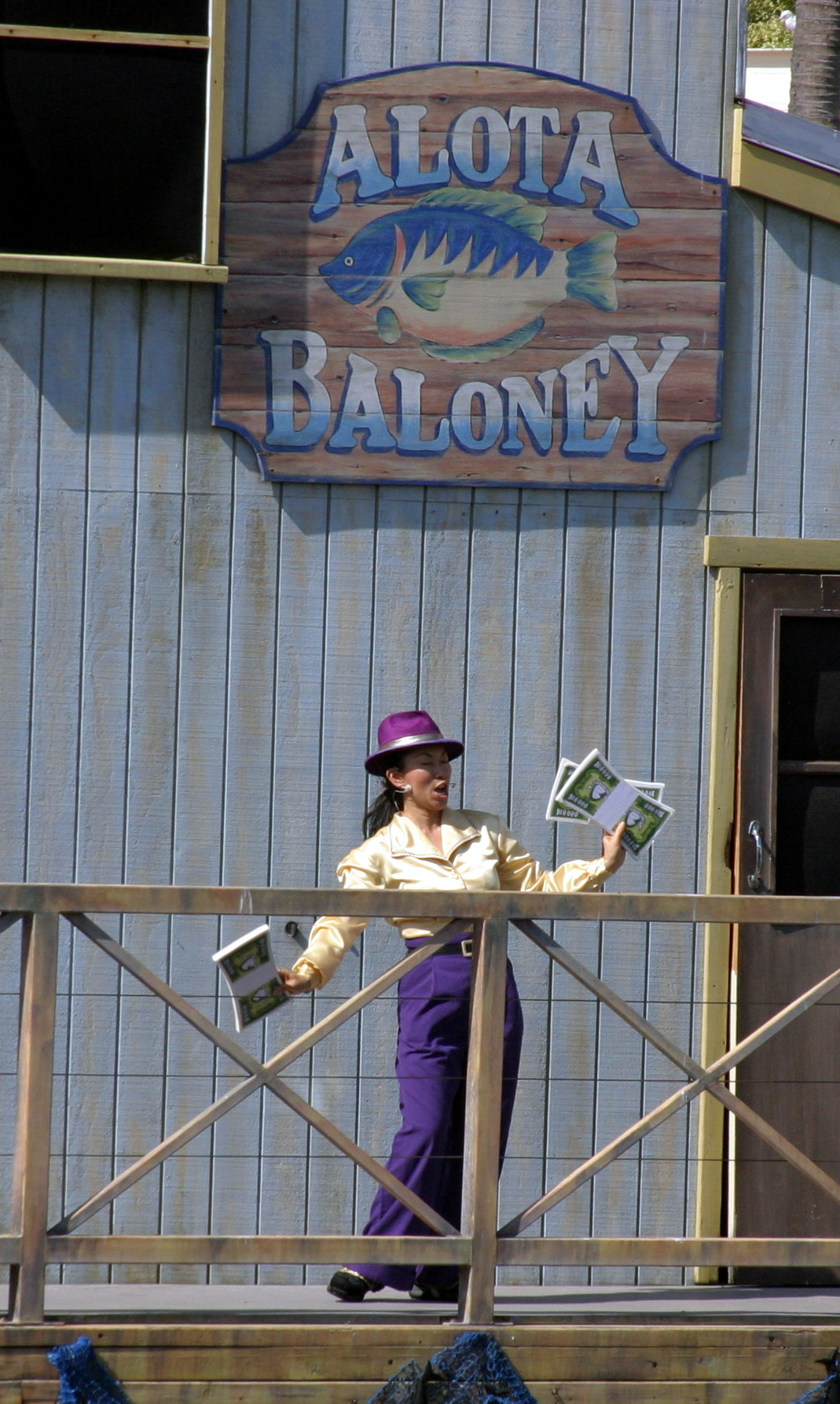 "Alota Baloney, from the ""Fish Detective"" show at Sea World"