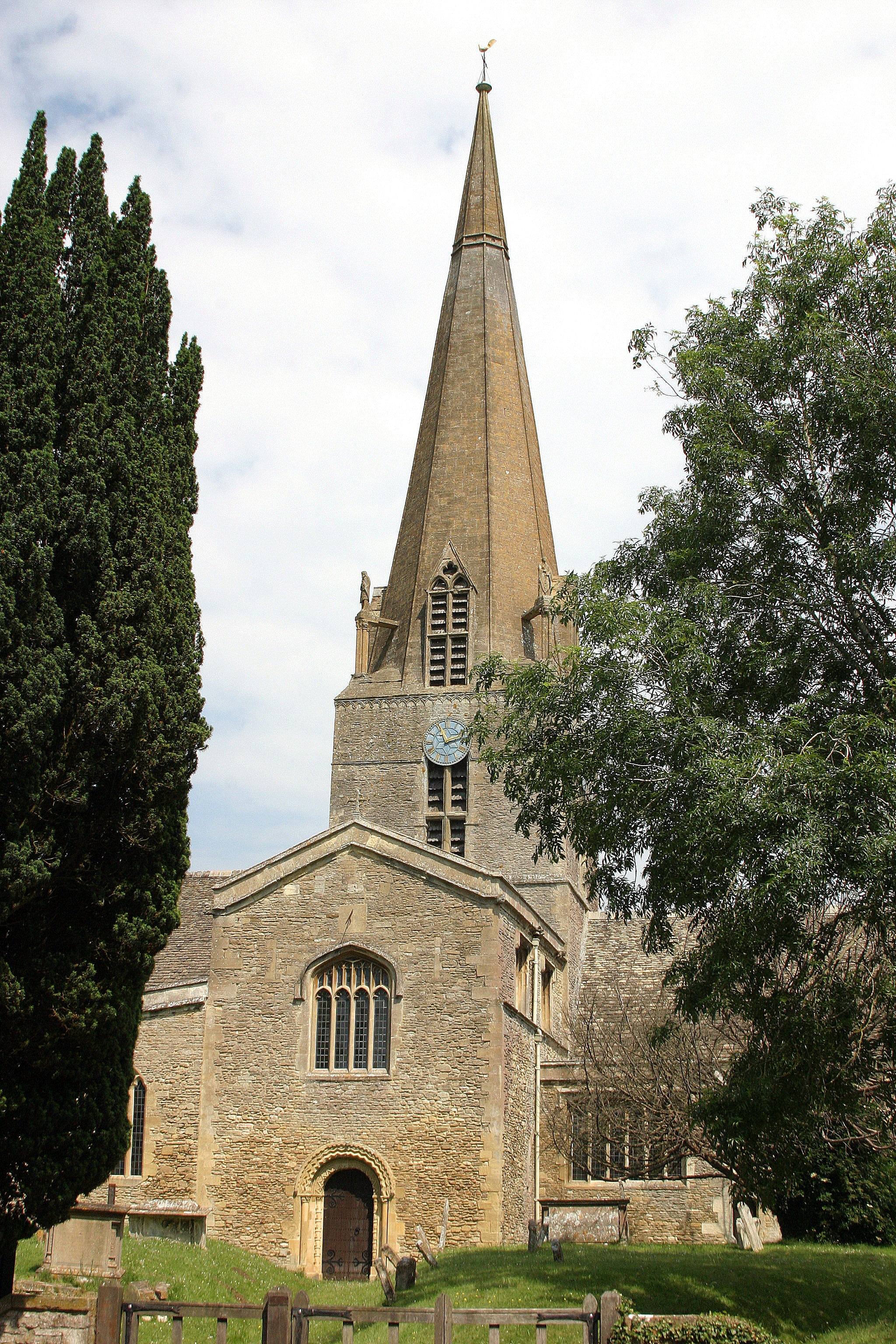 Bampton - St Mary's Church, renamed for the series as St Michael and All Angels
