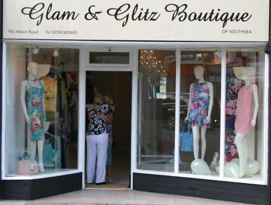 Glam & Glitz Boutique of Southsea - A unique Ladies Boutique in the popular location of Albert Road. Offering a selection of high fashion and classic ladies wear in sizes 8 to 26.