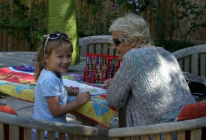 Summer & Granny getting all arty