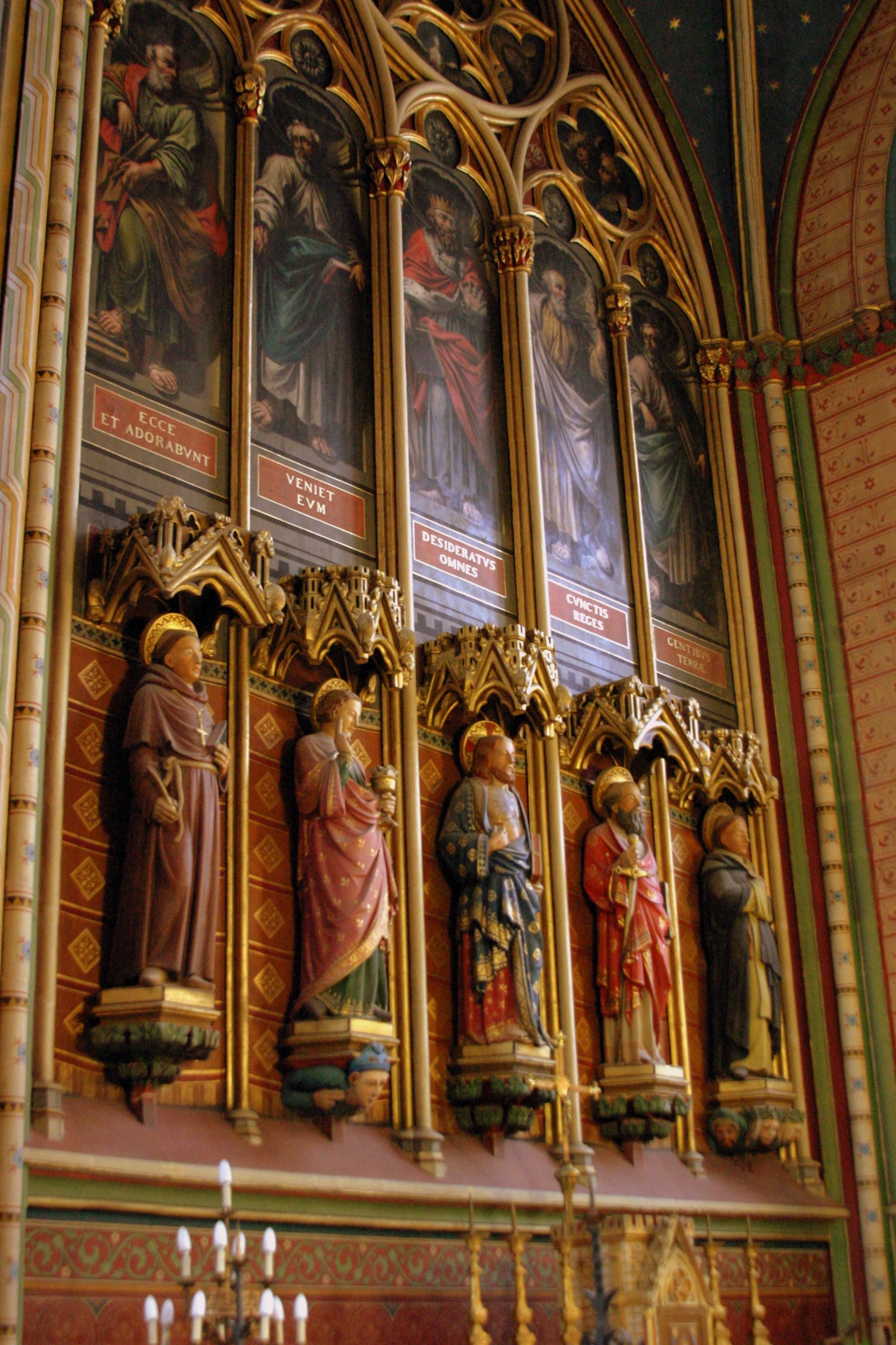 Detail inside Cathédrale Saint-Étienne de Limoges - Limoges, France