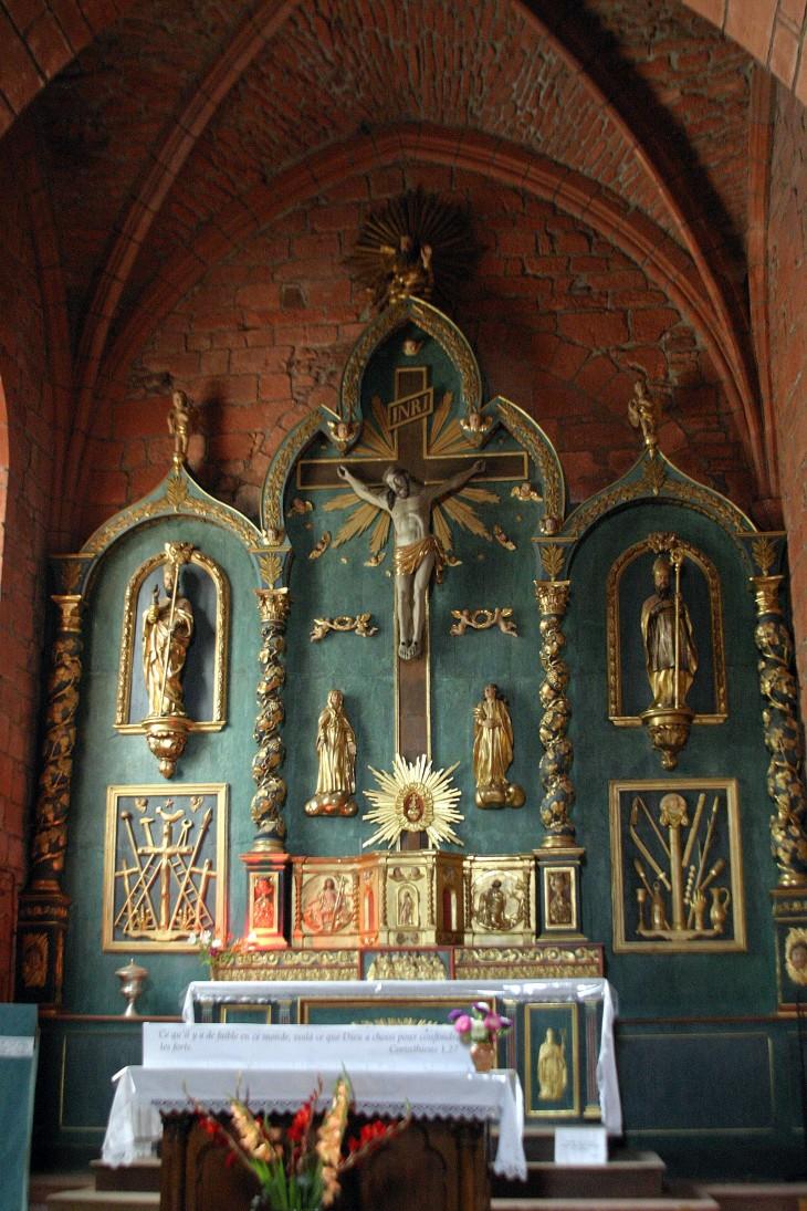 Collonges-la-Rouge, France - Saint-Pierre church detail