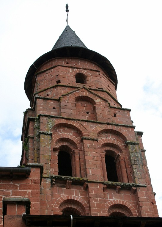 Collonges-la-Rouge, France - Saint-Pierre church's steeple