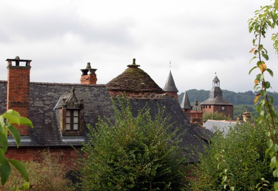 Collonges-la-Rouge, France - Another roofline shot