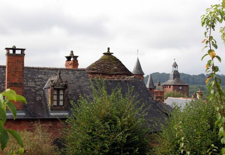 Collonges-la-Rouge, France - Another roofline shot