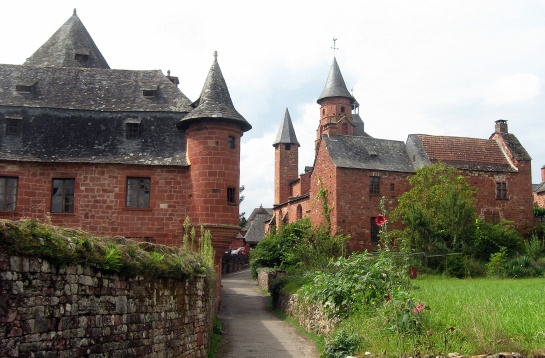 Collonges-la-Rouge, France - Quiet streets