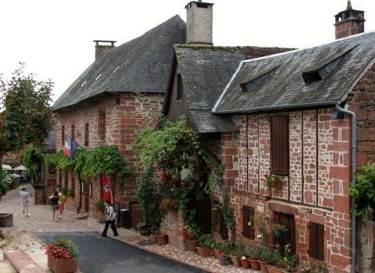 Collonges-la-Rouge, France - Main street.