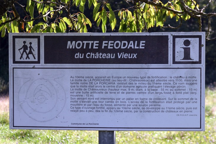 Motte Feodale du Chateau Vieux - La Porcherie, Limousin, France