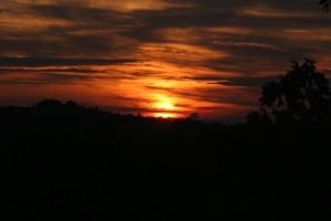 La Porcherie, France - A glorious sunset.