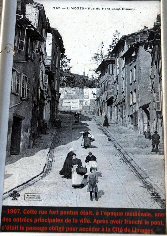 Limoges, France - Rue du Pont Saint-Etienne 1907