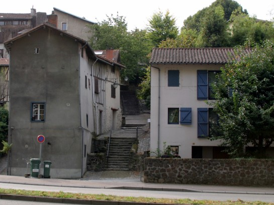 Limoges, France - Wonky buildings en route to the cathedral.