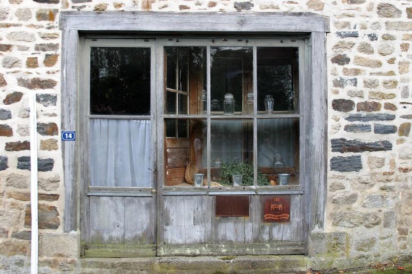 La Porcherie, France - Old Shop Front