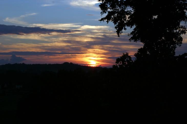 La Porcherie, France - Sunset