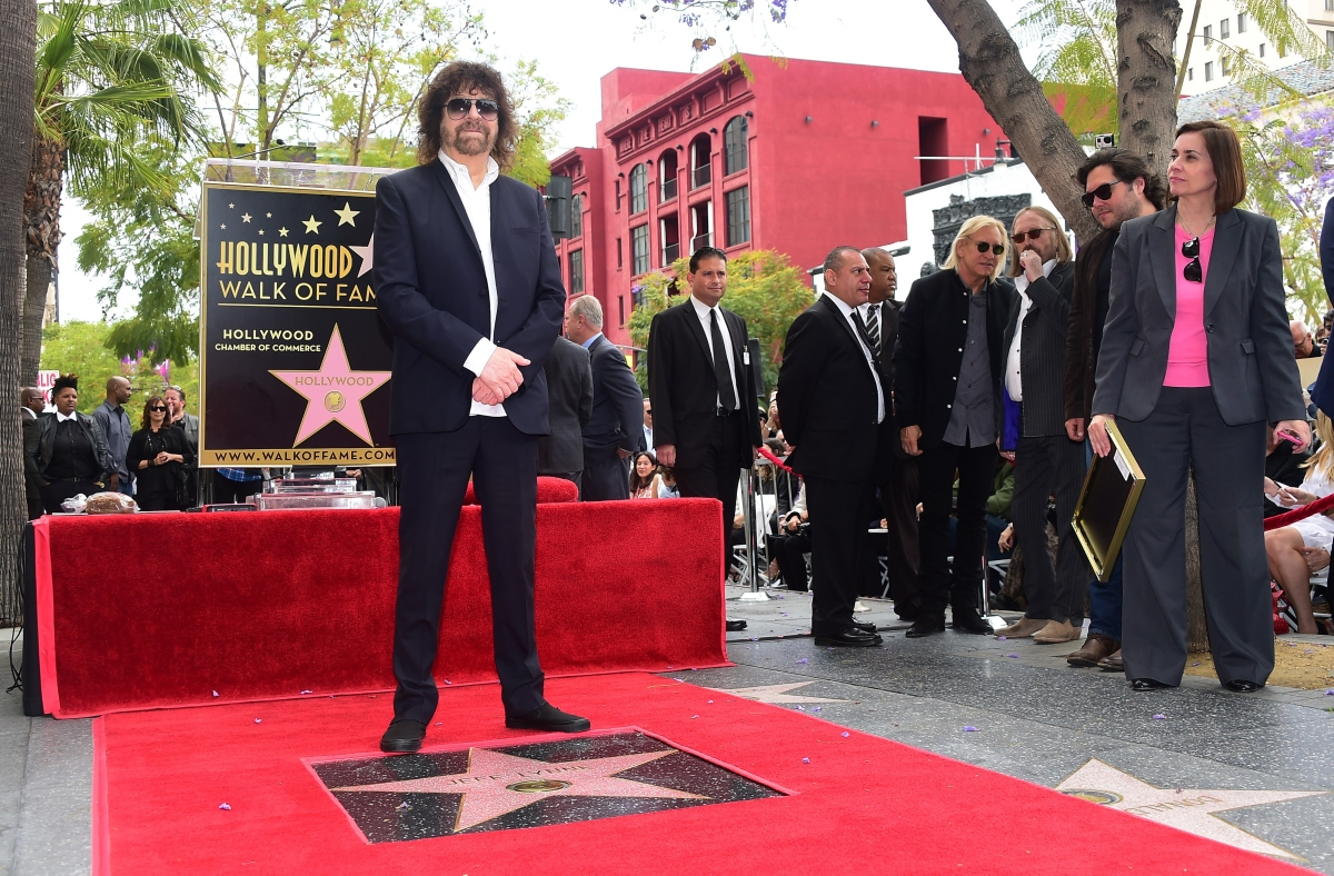 ELO's Jeff Lynne Gets Star on the Hollywood Walk of Fame
