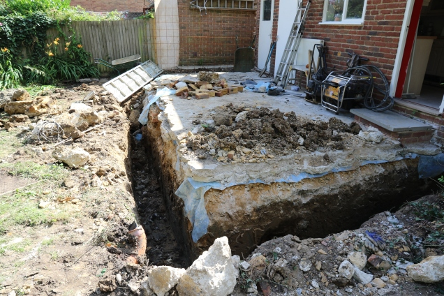 Conservatory - Digging of footings almost complete