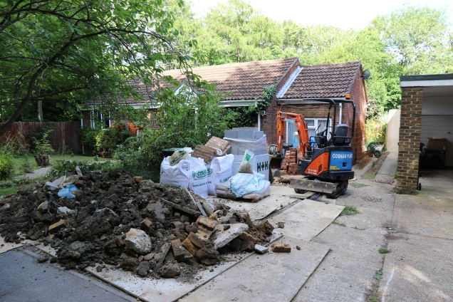 Conservatory - The mini digger