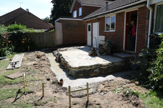 Conservatory - We have footings