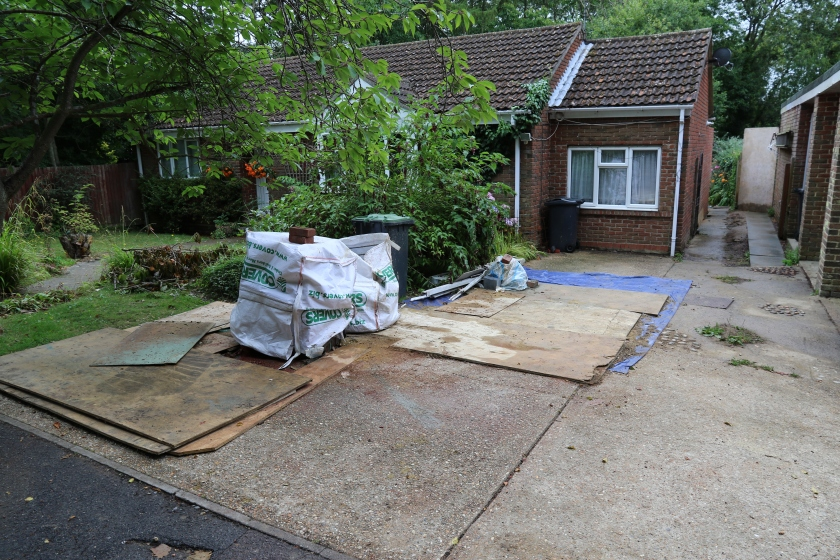Conservatory - Most of the materials have now gone from the drive