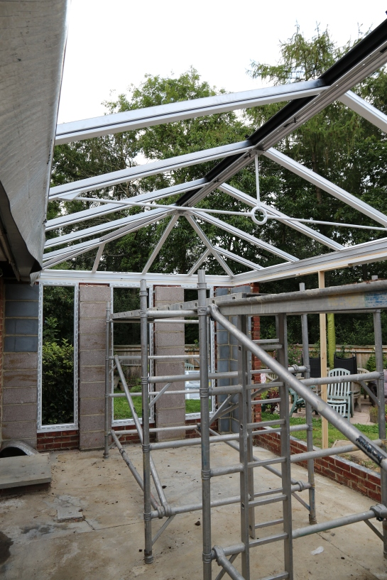 Conservatory - Inside view of the roof framework