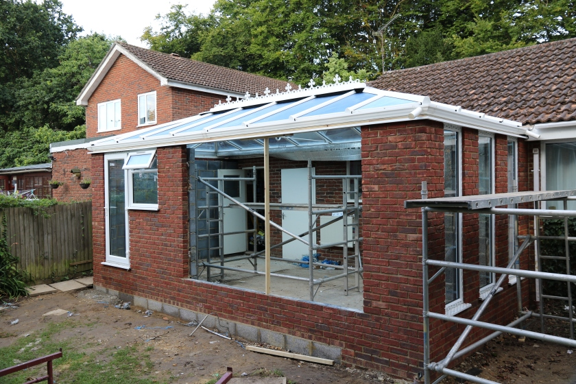 Conservatory - Glazing is also in the utility room door and window.