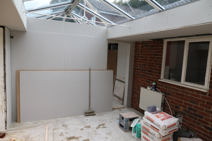 Conservatory - Kitchen window still to be replaced