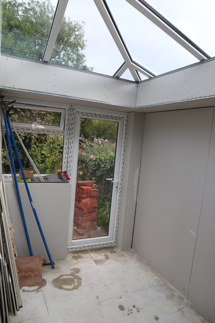 Conservatory - Outside door from the utility room.