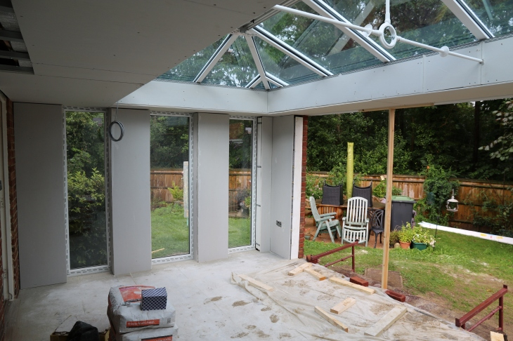 Conservatory - Plasterboarding