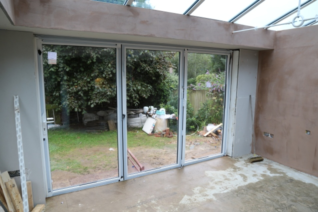 Conservatory - The bi-fold doors are in