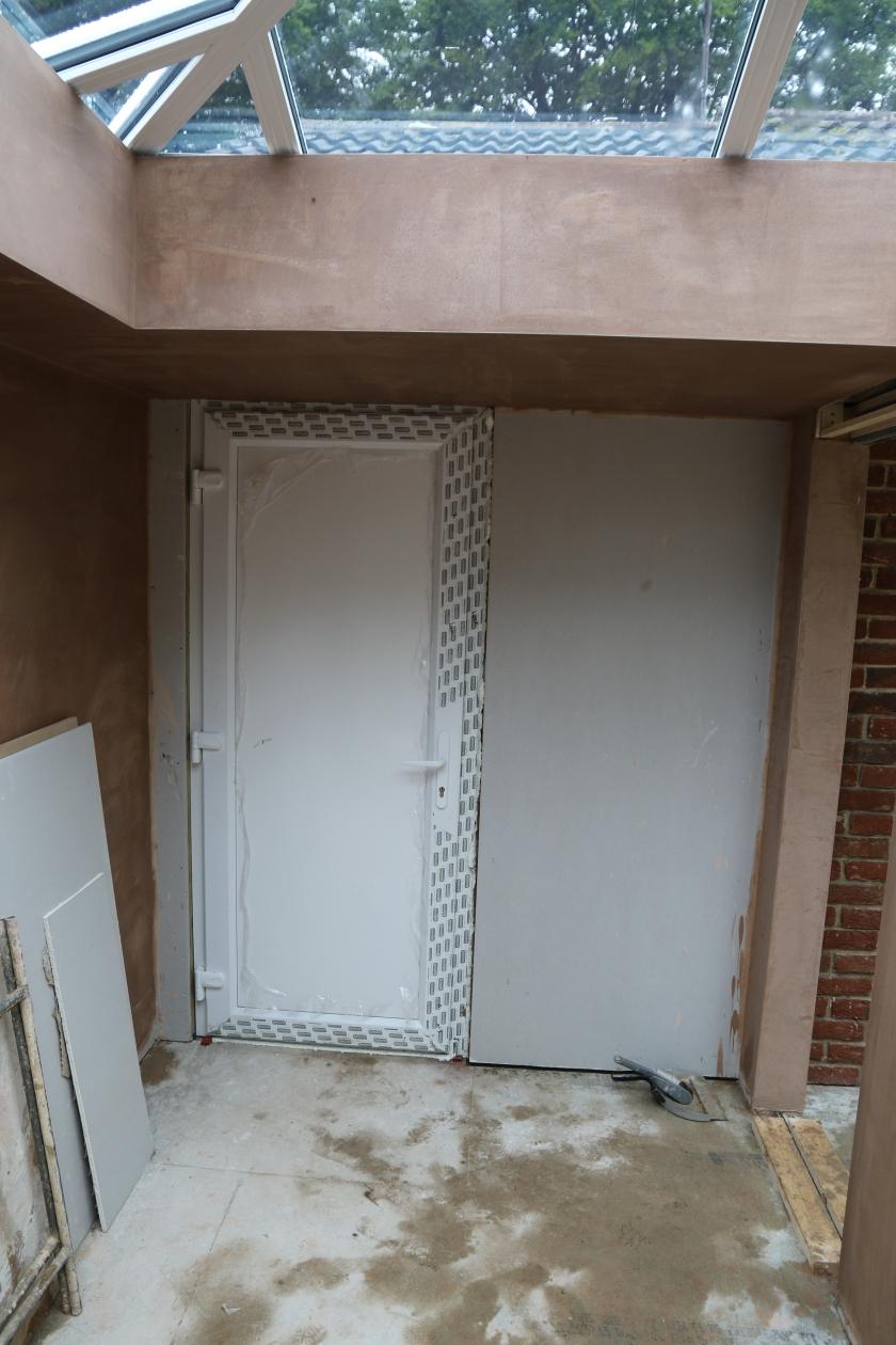Conservatory - New garage door.