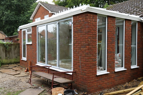 Conservatory - External view of the bi-fold doors
