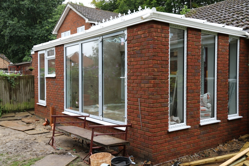 Conservatory - External view of the bi-fold doors