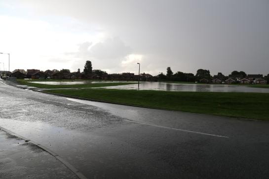 Moreton Floods - Town Meadow Lane towards Linear Park