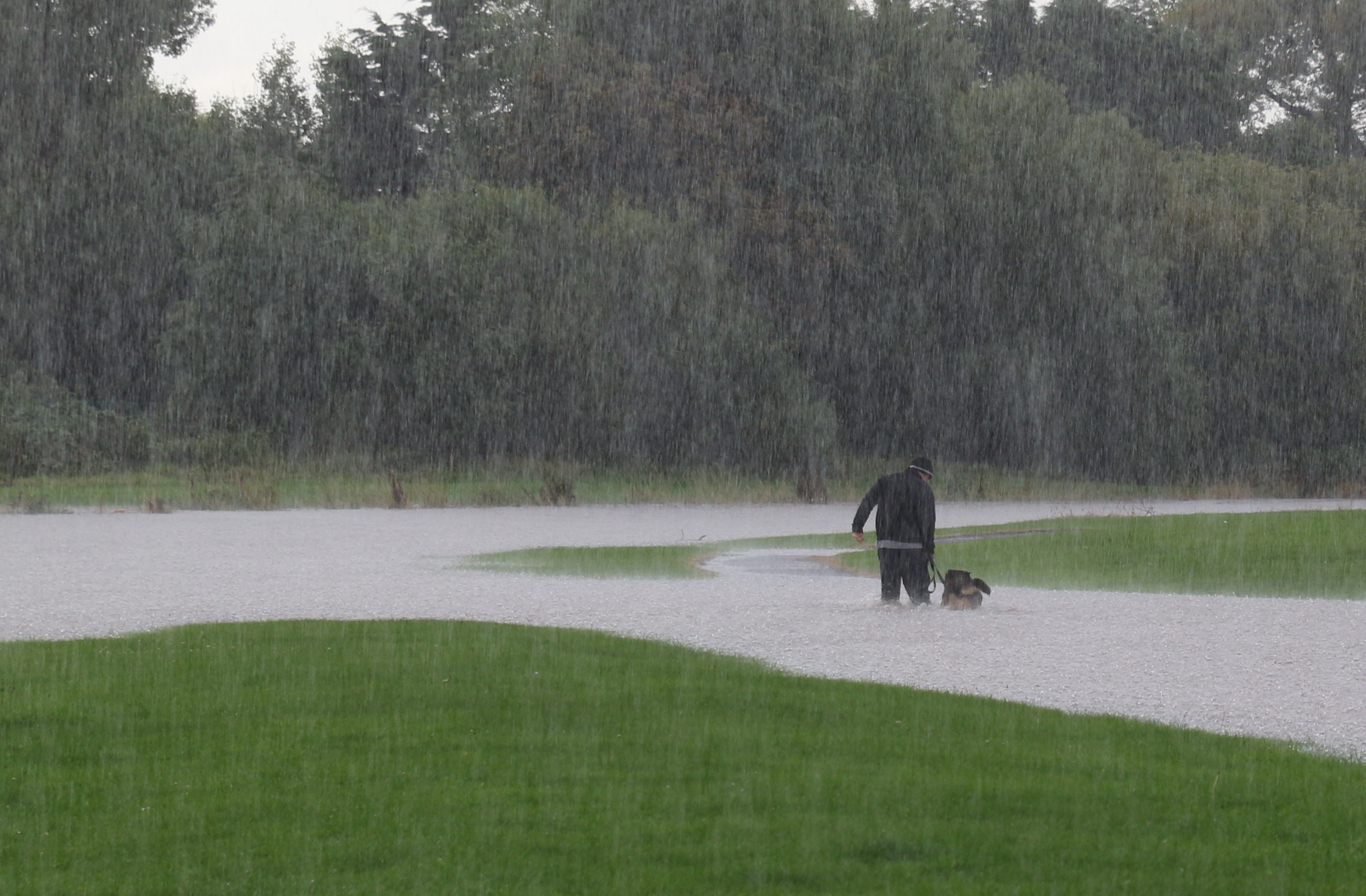 Moreton Floods - Walkies, there's dedication for you