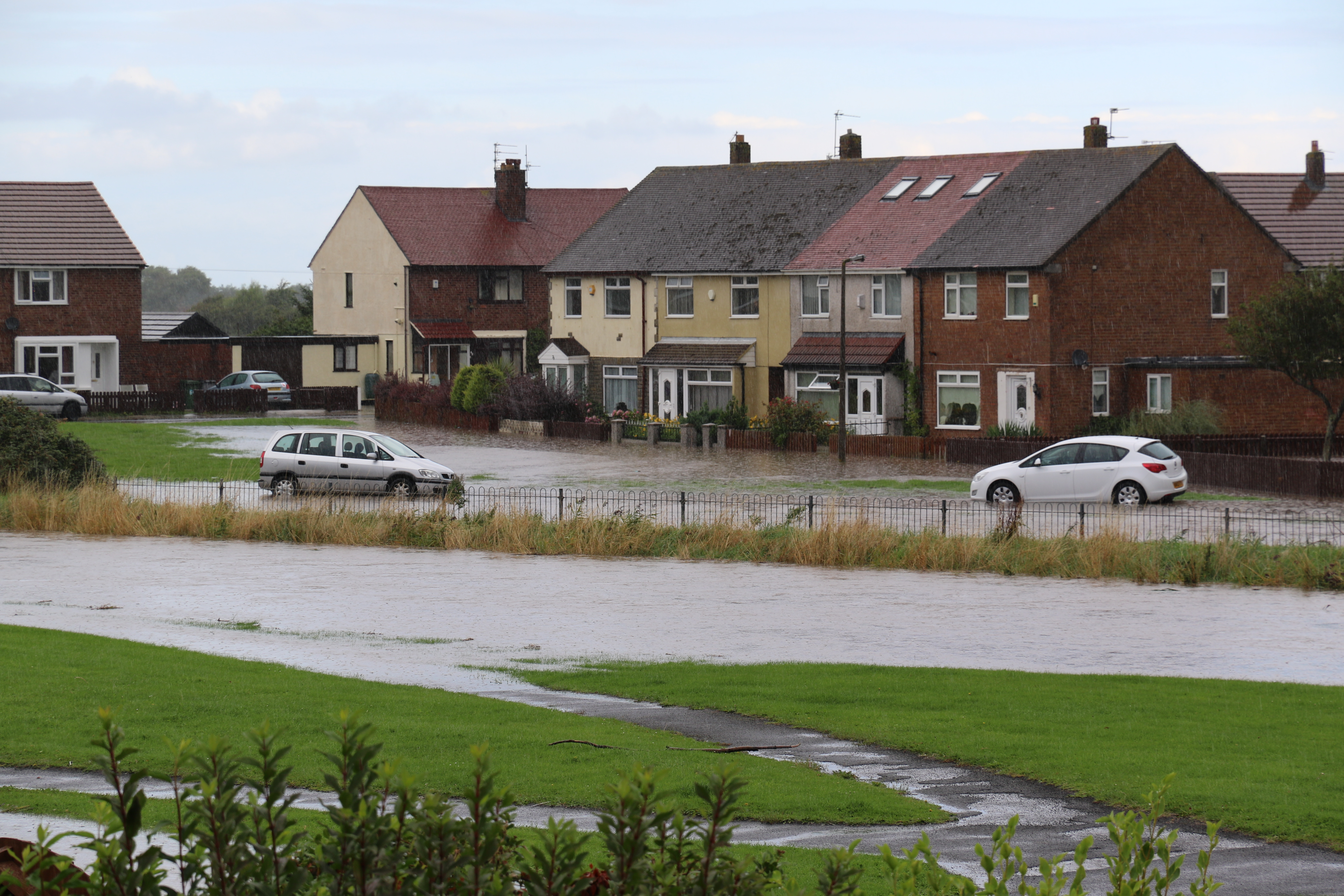 Moreton Floods - These were the houses featured on local TV