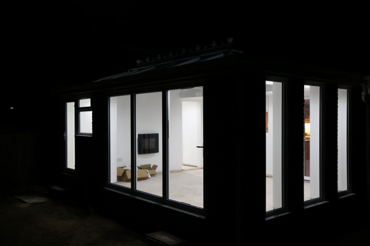 Conservatory - Late night illuminations.
