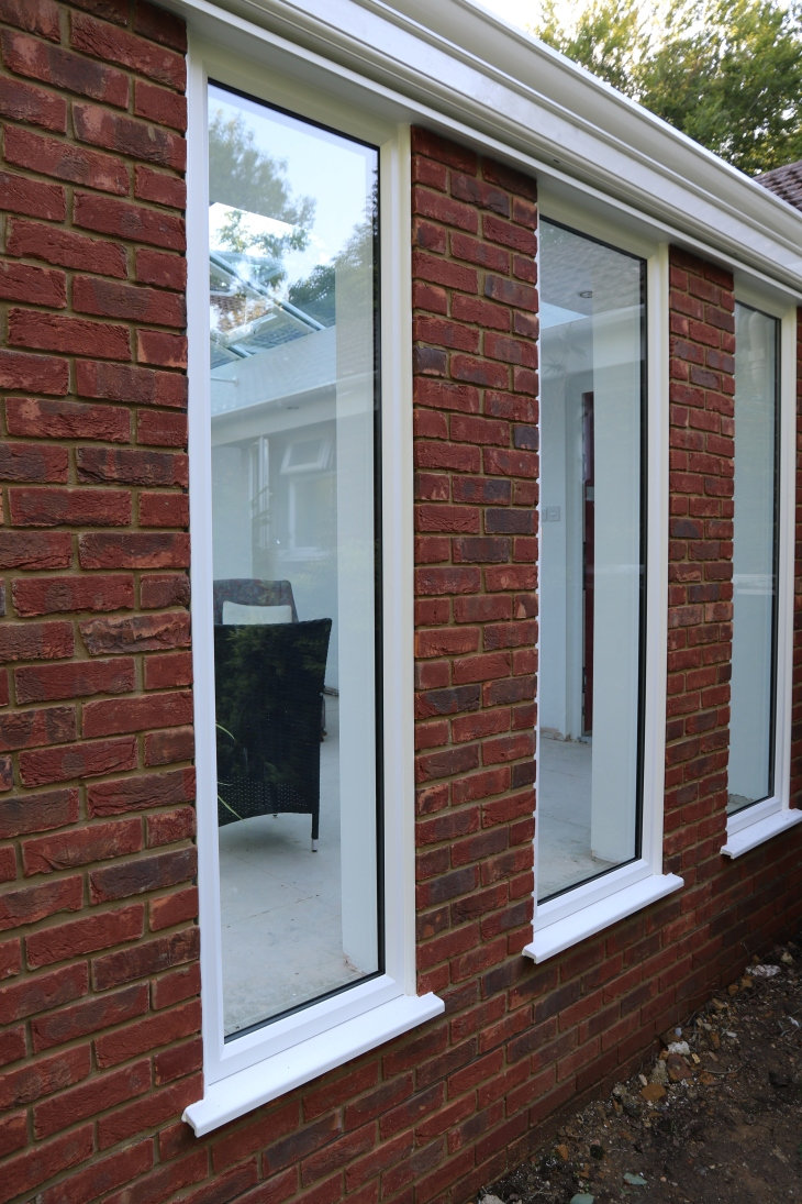 Conservatory - Window trimmed and sealed