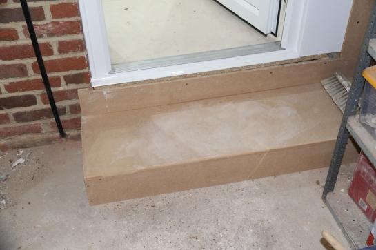Conservatory - New garage step