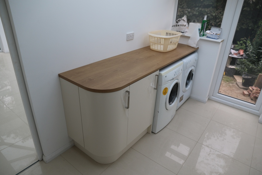 Conservatory - Big smile on Gerrys face. We now have a functioning utility room.