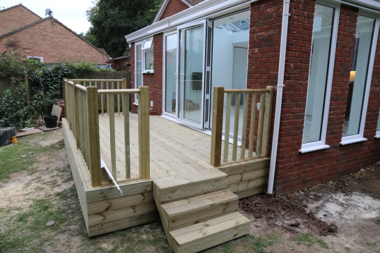 Conservatory - We have decking, we have steps.