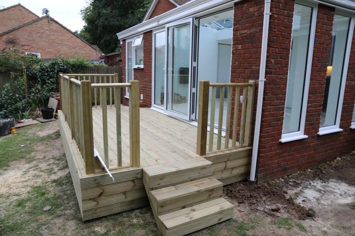 Conservatory - We have decking, we have steps.