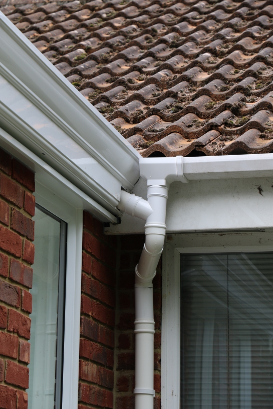 Conservatory - New guttering and existing house guttering are now finished.