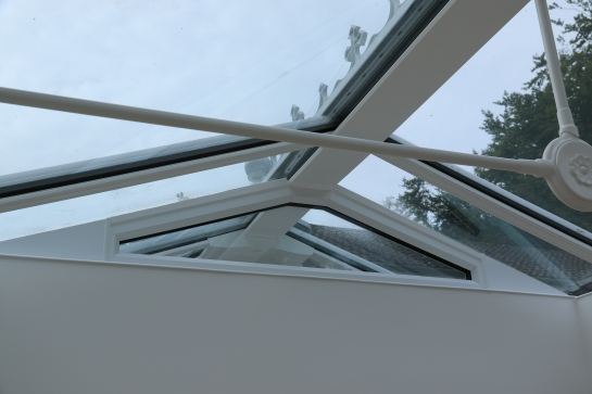 Conservatory - Partition wall glazing fitted and trimmed