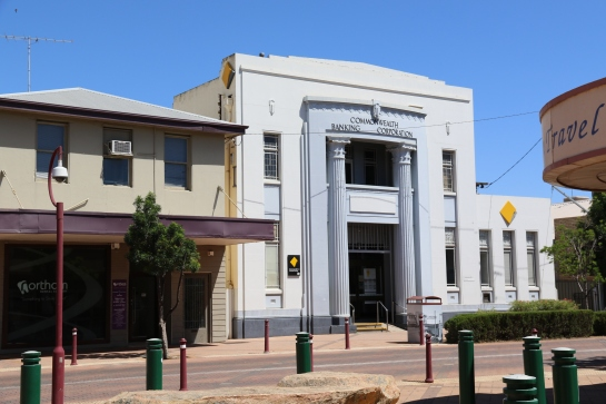 Commonwealth Bank - is a two-storey, Inter War Stripped Classical style commercial building. Built circa 1934