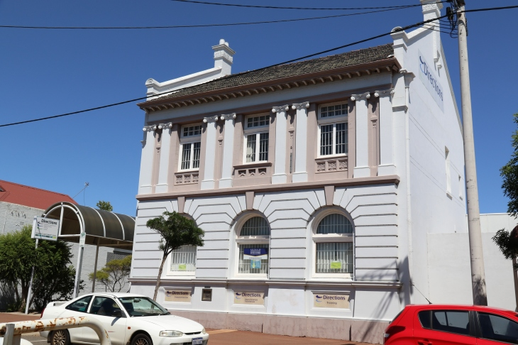133 Fitzgerald Street, Northam - A two-storey rendered brick and tile building (1906) in the Federation Free Classical Style