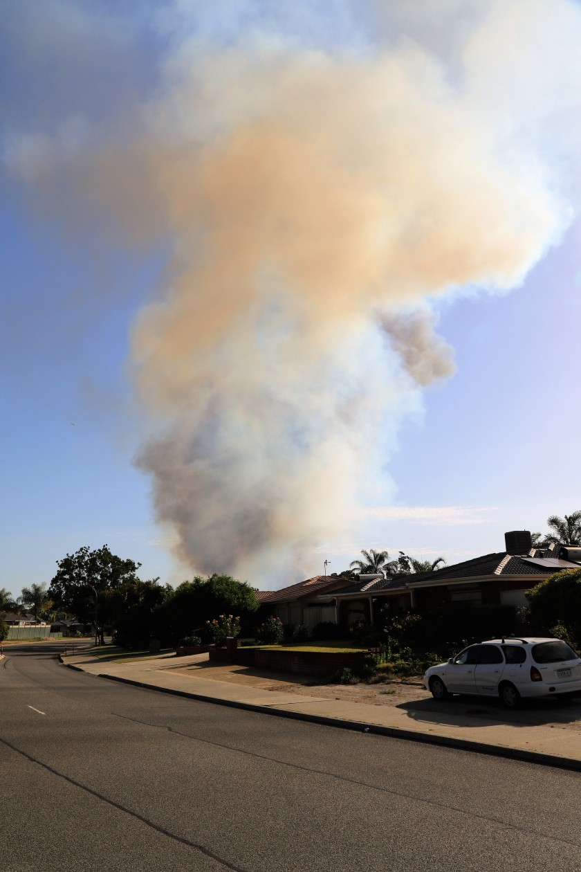 Smoke Plume - Bushfire - Near Waterperry Drive, Perth WA.