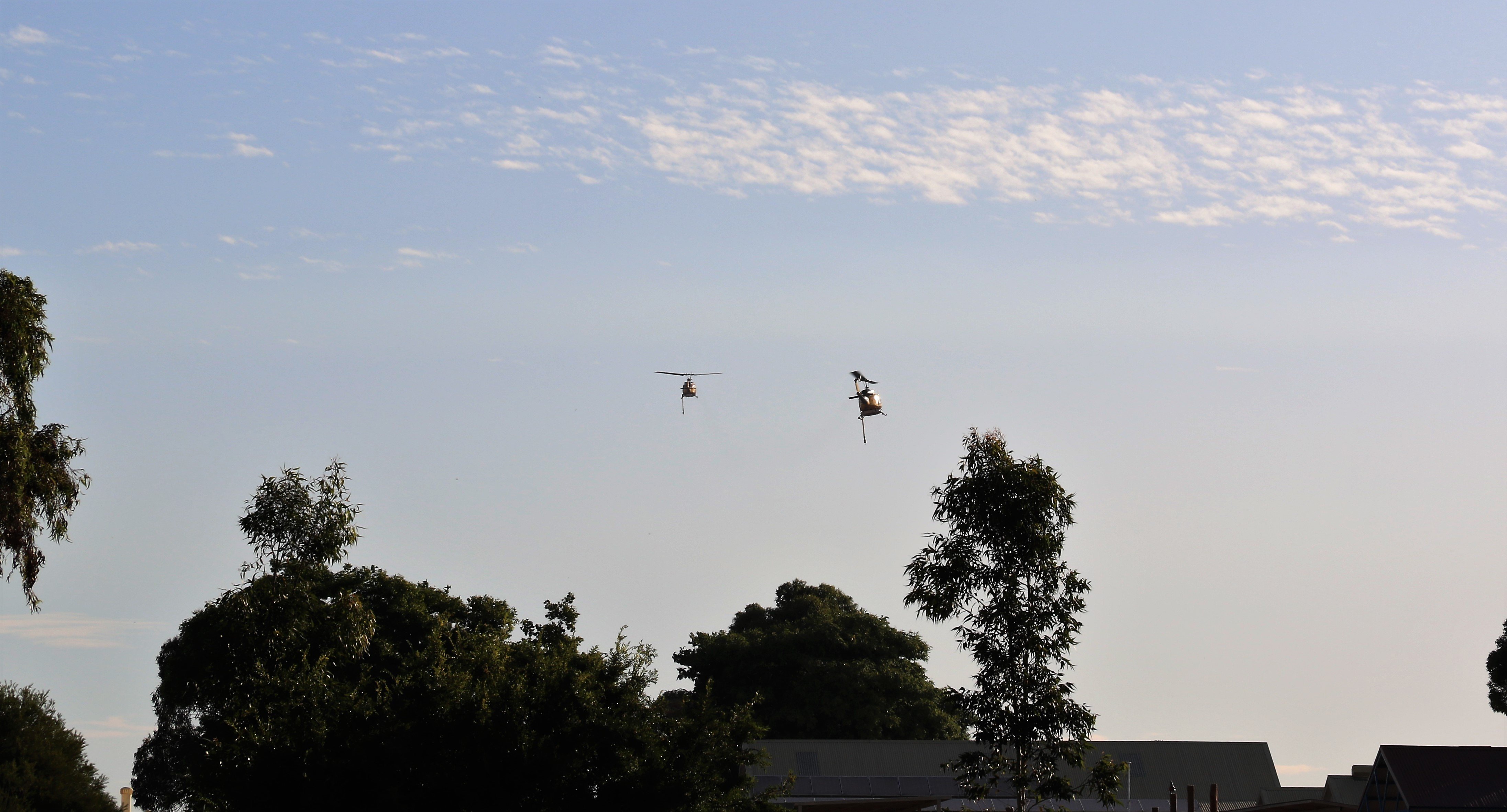 Helicopters - Bushfire - Near Waterperry Drive, Perth WA.